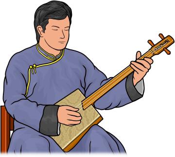 ドシプルール を演奏する男性