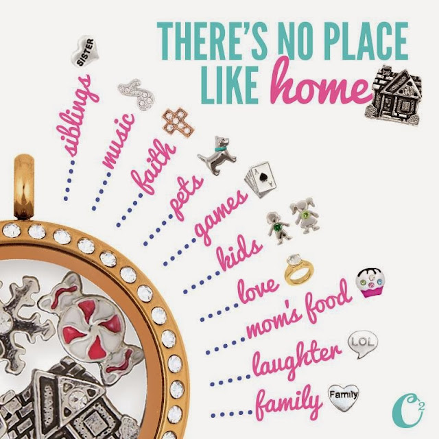 There's No Place Like Home Origami Owl Living Locket from StoriedCharms.com