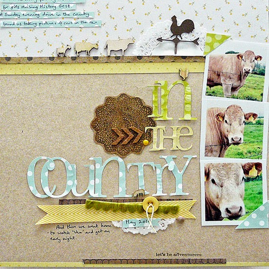 From High In The Sky scrapbooking with patterns for Get It Scrapped