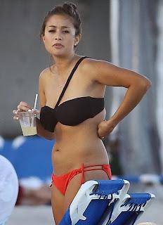 English: Catherine Giudici Orange Bikini Miami