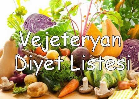 vejeteryan diyet listesi