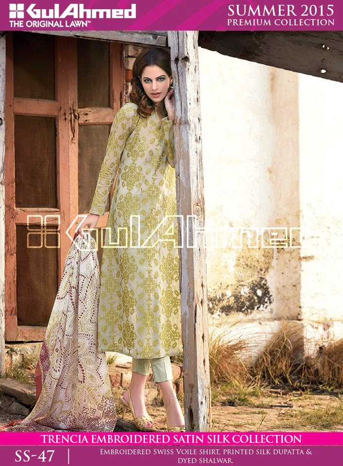 Gul Ahmed New Summer Collection 2015 | Stylish Summer Wear Suits ...