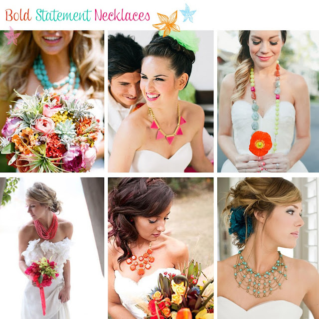 Colourful Wedding Necklaces