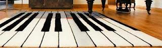 Carpete musical personalizado de sala