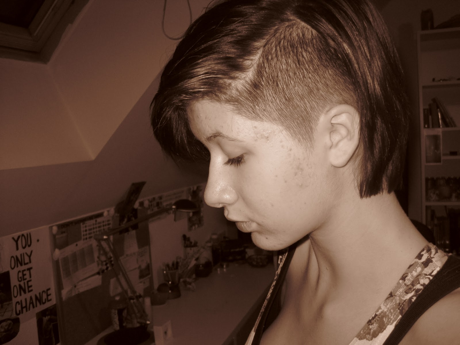 Haaren sidecut bei kurzen Ombre Kurze