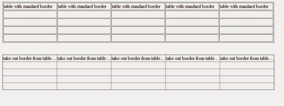 How to take out table border from table in html sanwebcorner for Html table border