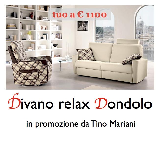 Il relax in promozione divano 2 posti dondolo con sistema for Divano a dondolo