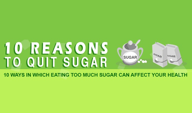 10 reasons to quit sugar infographic visualistan