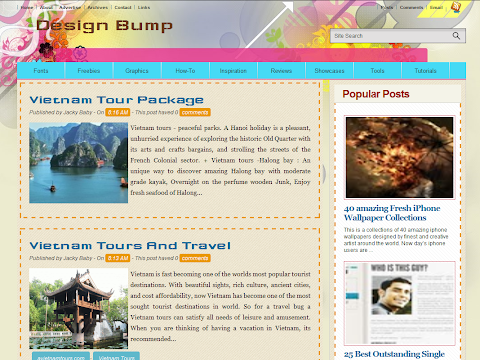 Design Bump Blogger Theme