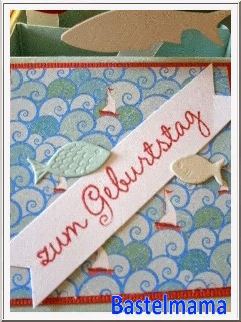 Geburtstagskarte, Stampin Up Wir feiern, Memory Box Die Fische