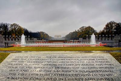 Monumento a los Caídos en la 2º Guerra Mundial, en Washington DC