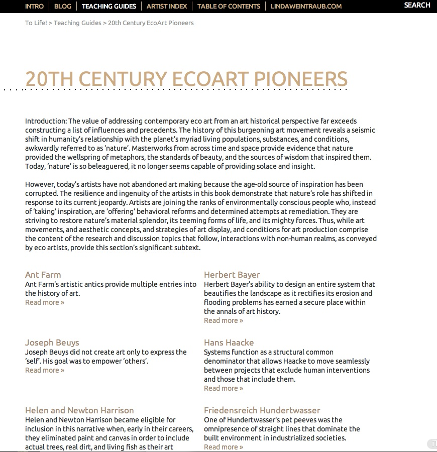 20th Century Ecoart Pioneers
