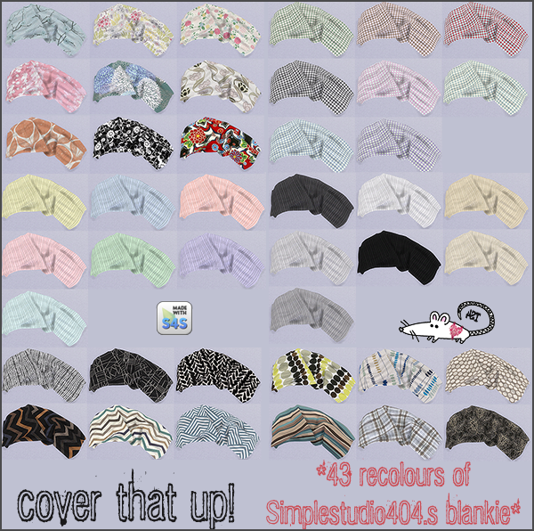 My Sims 4 Blog Blanket Recolors By Loveratsims4