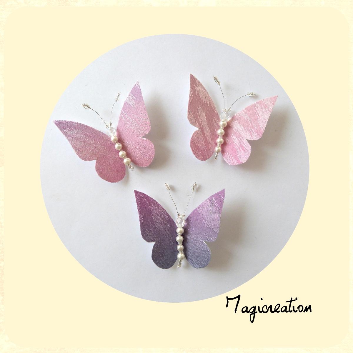 MAGICREA: papillons pastels en soie pour rideaux