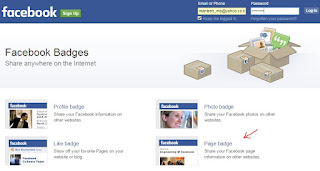 How to share Facebook page on blog