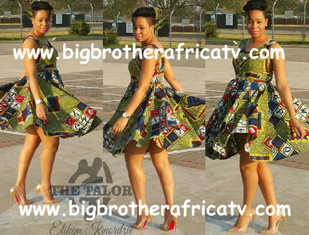 Pokello Nare in Elikem kumordzie designed dress