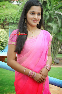 Samskruthy Shenoy cute beauty in Lovely Pink Saree Must see Pics