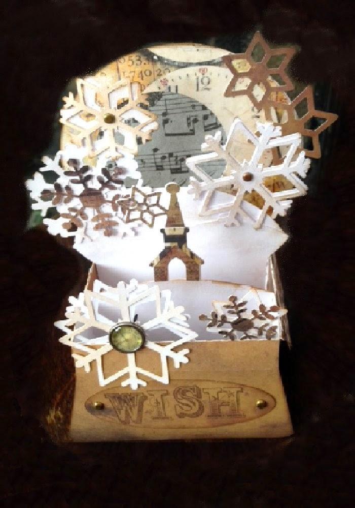 Craft Creations Tim Holtz Christmas Snow Globe Box Cards