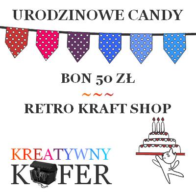Urodzinowe Candy z Retro Kraft Shop