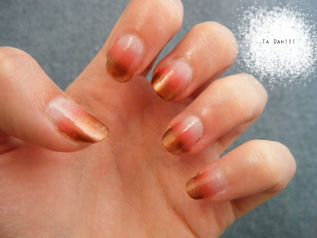 Ombre nails tutorial finished result