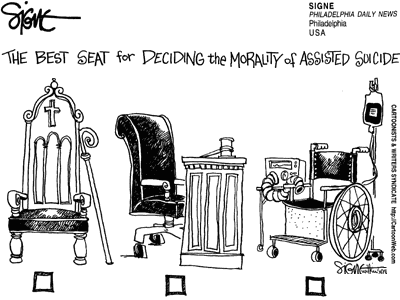 The best seat for deciding the morality of assisted suicide?