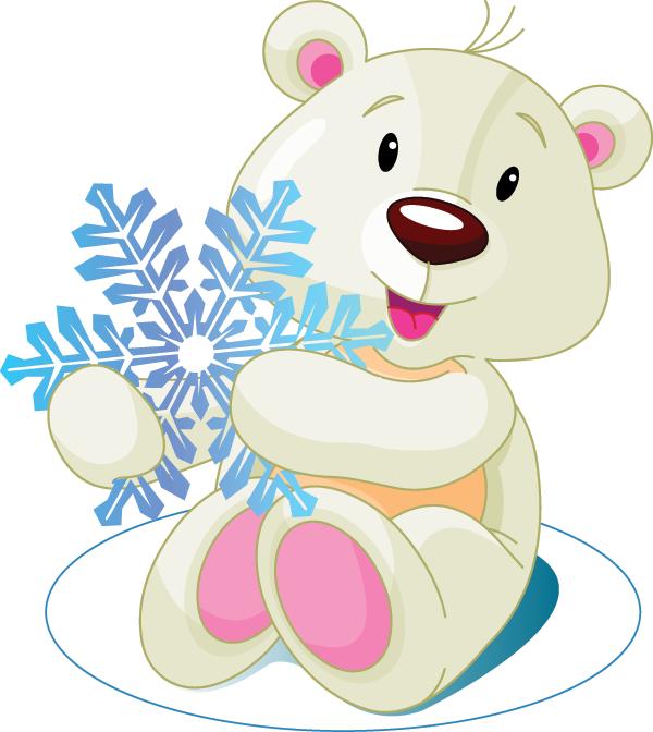 Snowflake Polar Bear Image