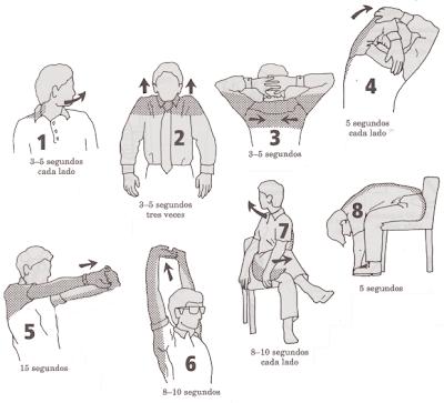 ejercicios faciles para hacer en la oficina