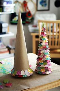 елка-конус бумажный