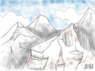 dessinateur illustrateur graphiste animateur bande dessinee croquis illustration crayonne animation graphisme artist illustrator graphic design animator comic book sketch sketches jonathan jon lankry sketchbook pro zen brushes ipad montagne