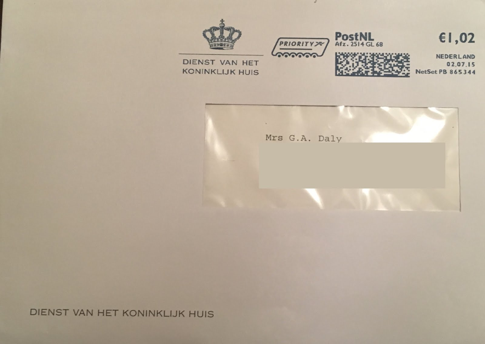 Gert'S Royals: Thank You Letter From The King And Queen Of