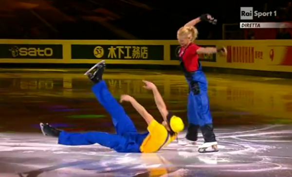 Super Mario Bros on ice