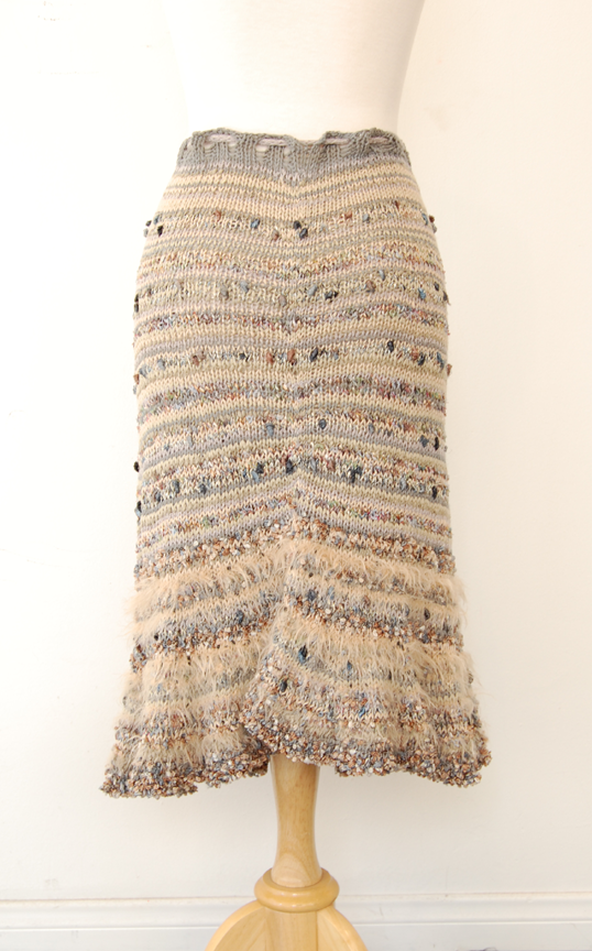 Knit Skirt Pattern : Jennifer Knits Los Angeles: Missoni-like Skirt Hand Knit ...