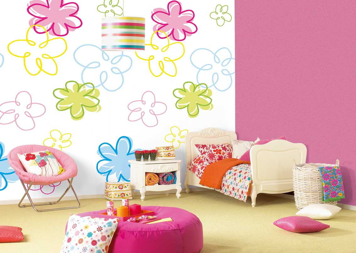 Juntos no felizes para sempre decora o quarto de crian a Kids room wall painting design