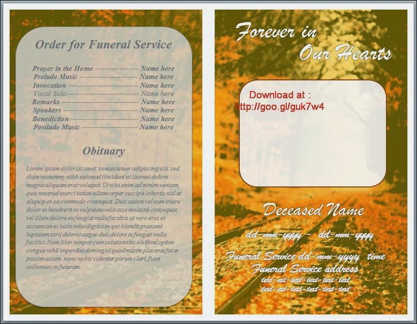 funeral service program template free .