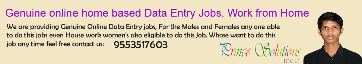 Prince Solutions - Online Data Entry Work providing since 2010