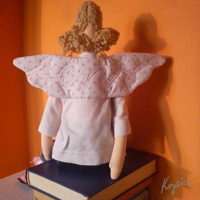 anielica sens Krysia to uszyła tilda anioł