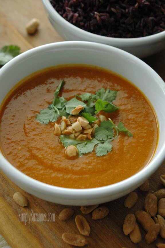 Simply Suzanne's AT HOME: curried pumpkin & wild rice soup