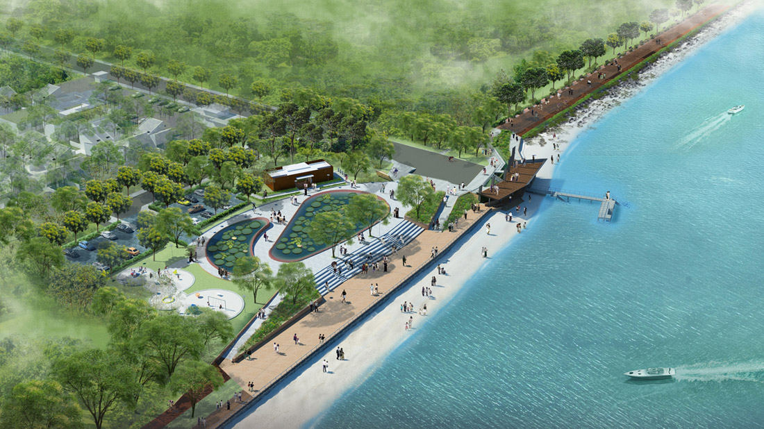 Aerial-View-of-Punggol-Point-Park (Punggol Promenade) by LOOK Architects