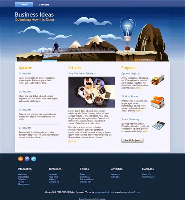 Business Ideas - Free Drupal Theme