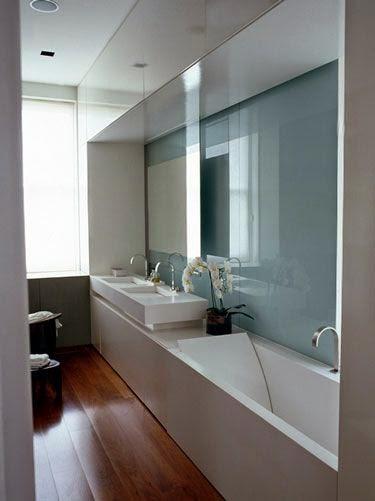 Banheiro pequeno? Estreito? Algumas ideias ~ ARQUITETANDO IDEIAS # Banheiro Comprido E Estreito Com Banheira