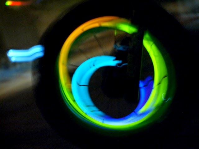 Fun glow stick and bike play with kids!