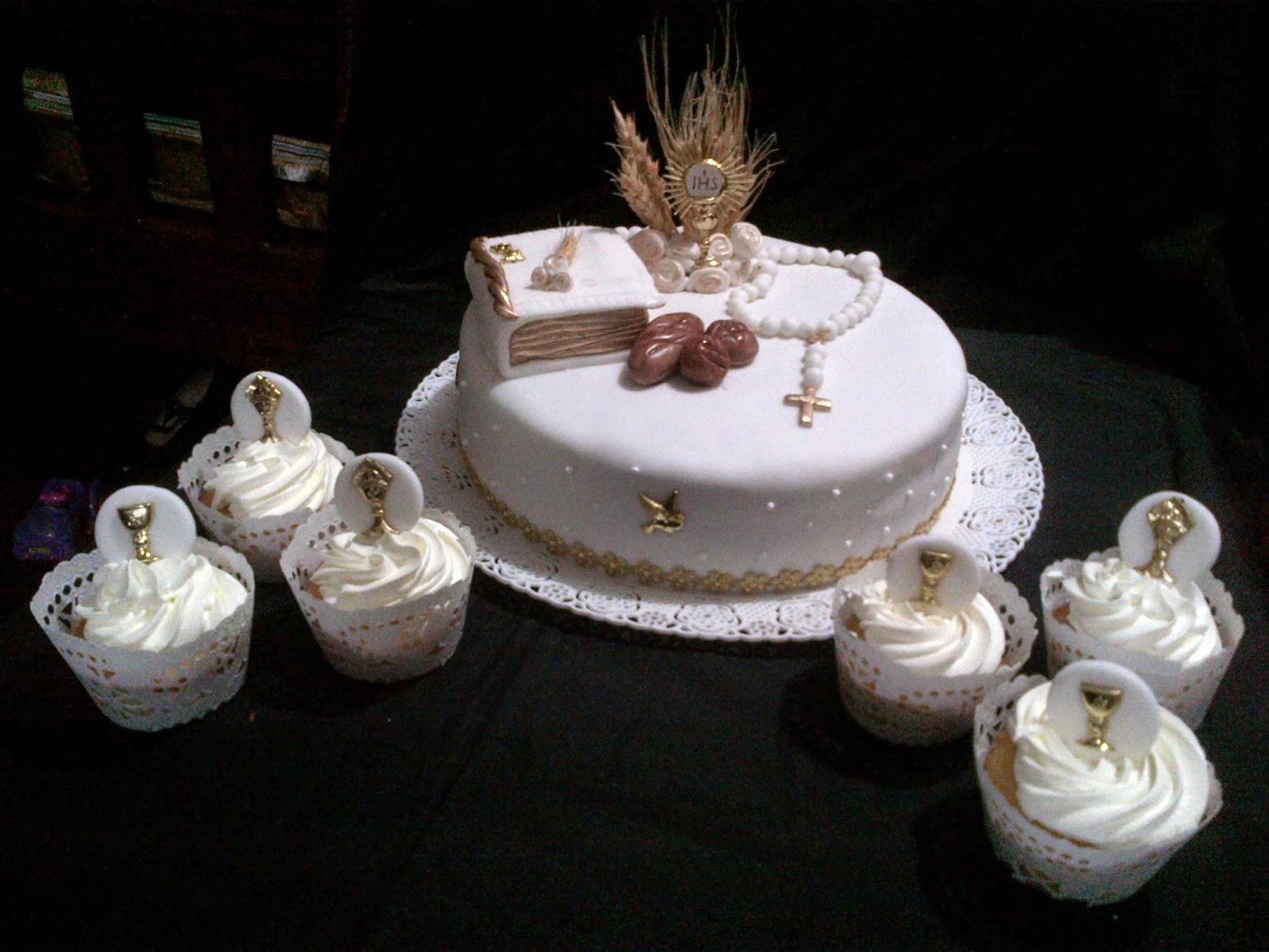 tortas y cupcakes de comunion
