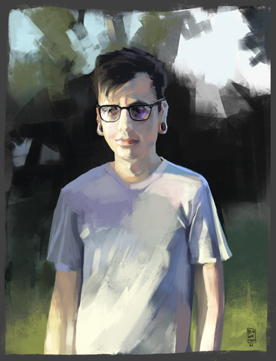 Ben Winfield Illustration - self portrait study