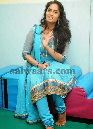 Shalini Ajith Blue Salwar Indian Dresses
