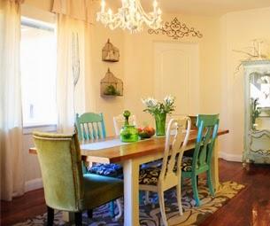 Comedor con sillas de colores el taller de la brocha y Sillas tapizadas colores