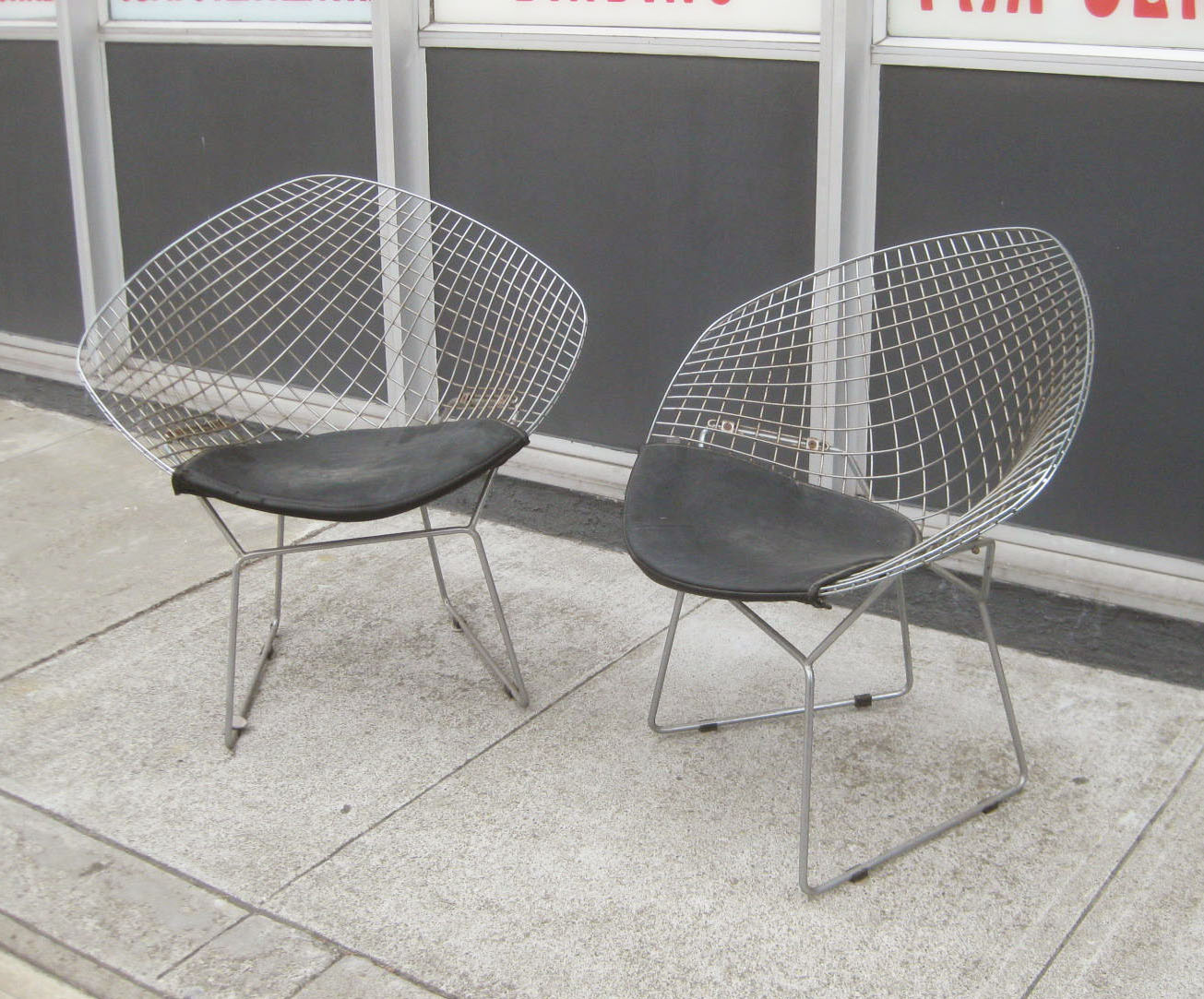 SOLD   Retro Metal Bucket Chairs   Pair For $75