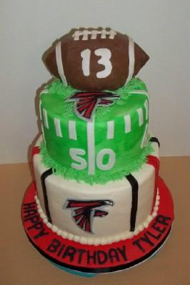 Bobbies Cakes And Cookies Atlanta Falcons Cake