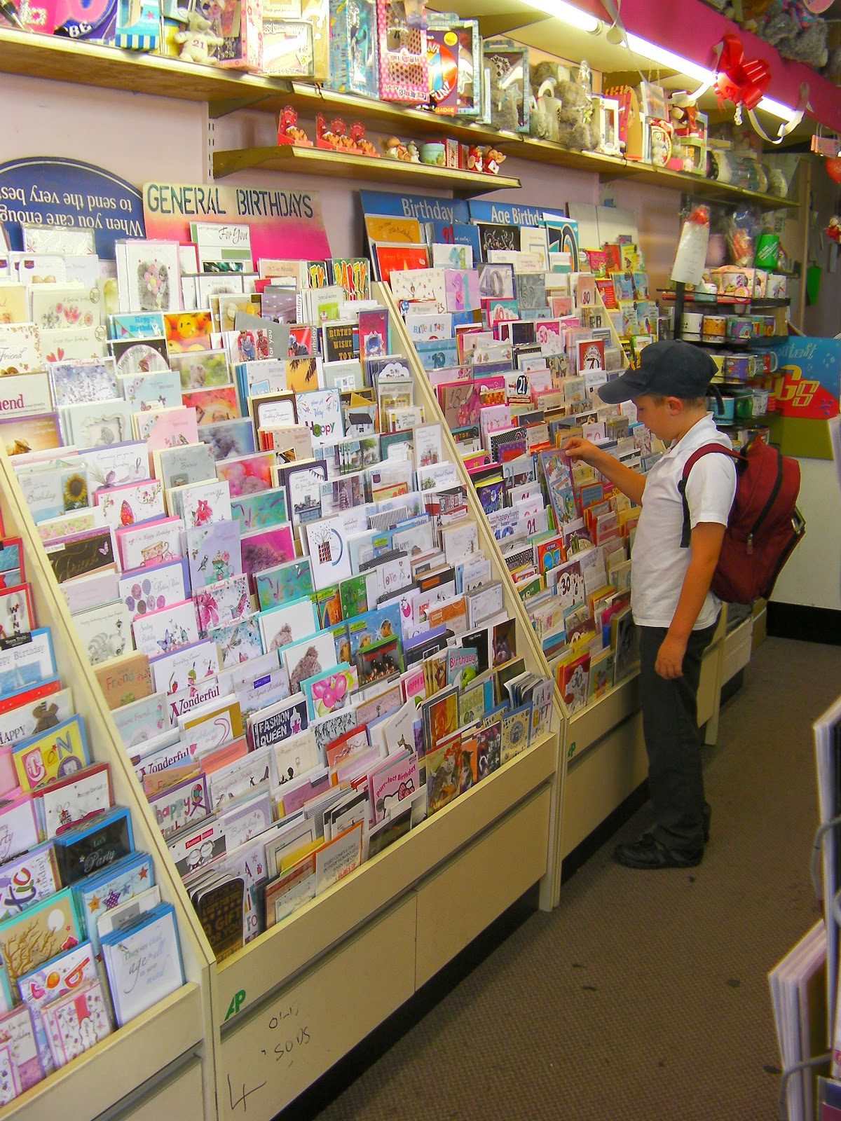 card and gift shop birthday card selection
