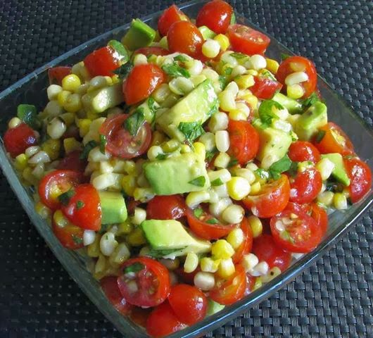 Easy Recipes to Do: Grilled Corn, Avocado and Tomato Salad with Honey ...