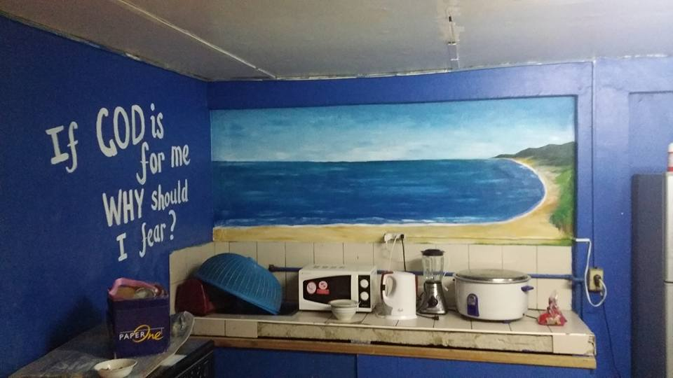 Wall mural I painted in the CG Kitchen